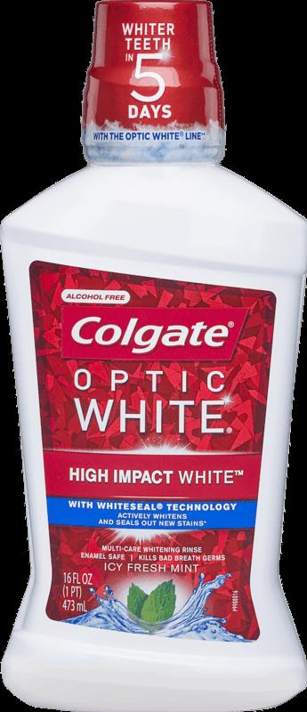 $1.00 for Colgate® Optic White® Mouthwash (expiring on Sunday, 02/02/2020). Offer available at Walmart.