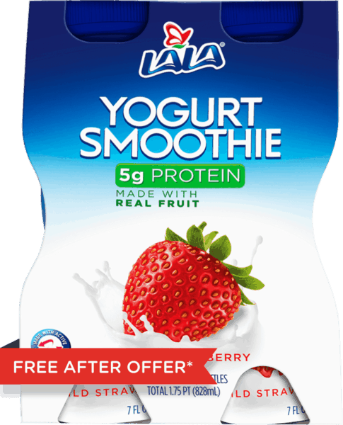 $2.98 for LALA® Yogurt Smoothies (expiring on Saturday, 03/31/2018). Offer available at Walmart.