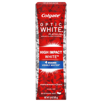 $1.00 for Colgate® Optic White Platinum Toothpaste. Offer available at multiple stores.
