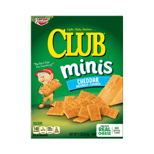 $0.50 for Keebler® Club® Bites and Minis (expiring on Sunday, 06/02/2019). Offer available at multiple stores.