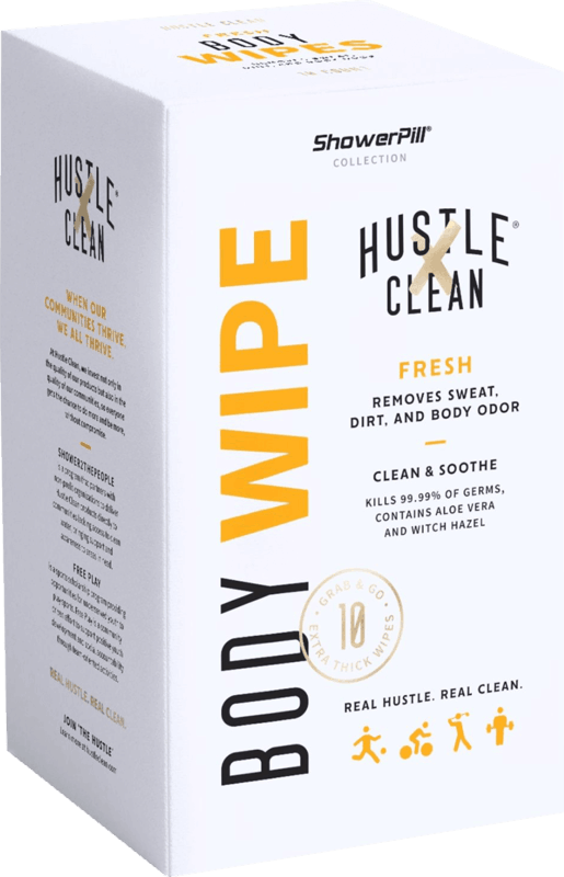 $1.50 for Hustle Clean Body Wipes (expiring on Thursday, 08/05/2021). Offer available at Walmart, Walmart Pickup & Delivery.