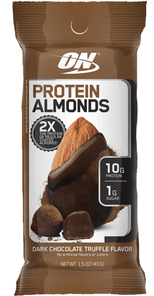 $0.50 for Optimum Nutrition® Protein Almonds (expiring on Sunday, 03/31/2019). Offer available at GNC, Vitamin Shoppe.