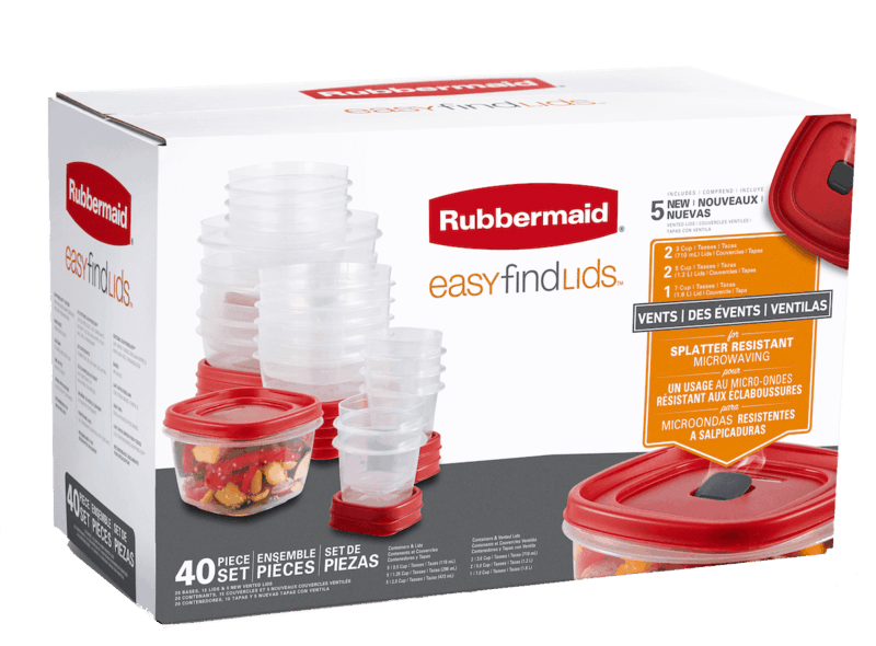 $2.00 for Rubbermaid® Easy Find Lids™ food storage containers. Offer available at Walmart.
