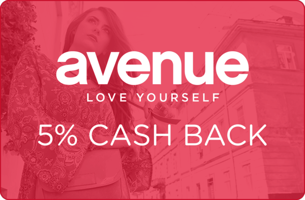 $0.00 for 5% cash back at Avenue. (expiring on Thursday, 02/01/2018). Offer available at Avenue.