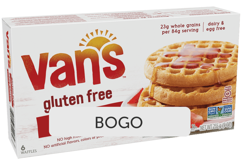 $2.72 for Van's Gluten Free Waffles (expiring on Monday, 02/01/2021). Offer available at Walmart, Walmart Pickup & Delivery.
