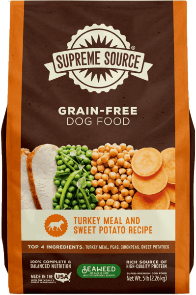 $2.00 for Supreme Source® Grain-Free Dog Food (expiring on Monday, 12/02/2019). Offer available at multiple stores.