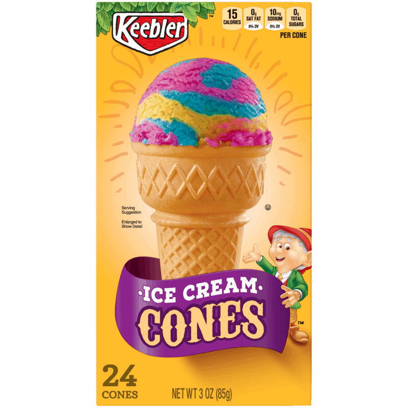 $0.50 for Keebler Cones. Offer available at Walmart, Walmart Grocery.
