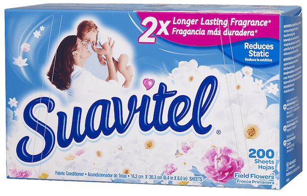 $0.50 for Suavitel® Fabric Conditioner (expiring on Sunday, 12/31/2017). Offer available at Walmart.