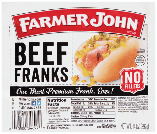 $0.50 for Farmer John® (expiring on Thursday, 03/01/2018). Offer available at multiple stores.