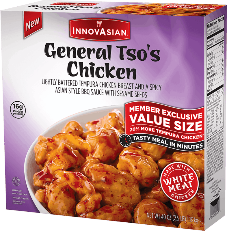 $2.25 for InnovAsian General Tso's Chicken (expiring on Tuesday, 03/10/2020). Offer available at Sam's Club.