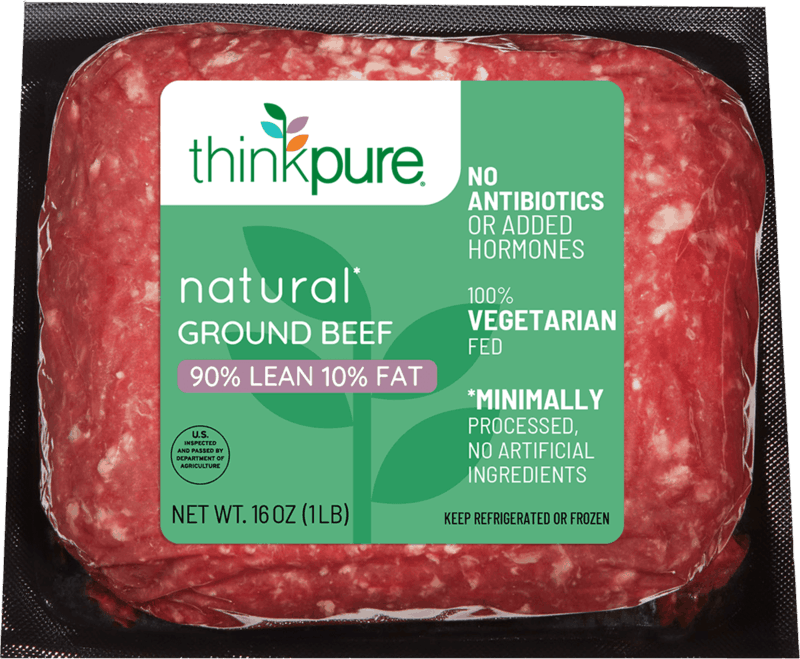 $0.75 for Think Pure Natural Ground Beef (expiring on Friday, 09/04/2020). Offer available at Giant Eagle.