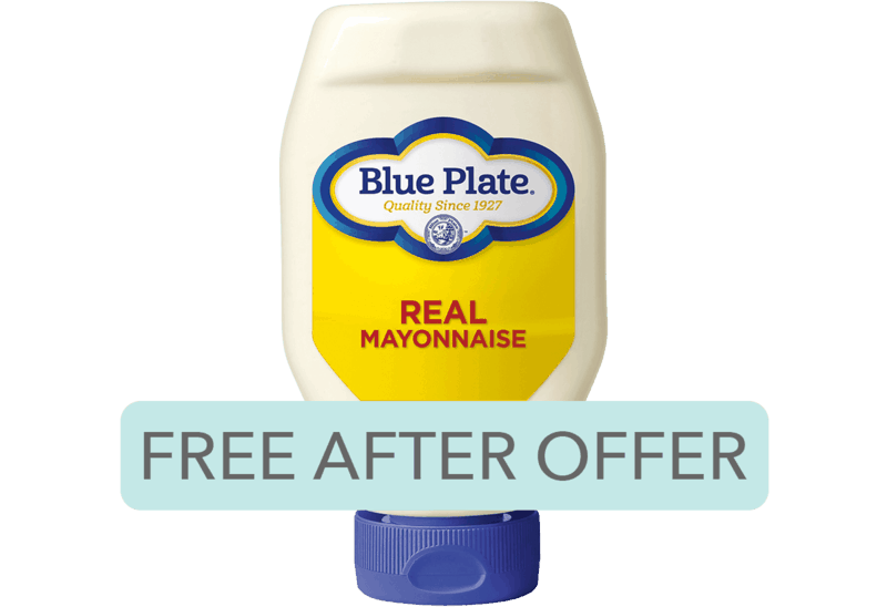 $2.59 for Blue Plate® Real Mayonnaise. Offer available at multiple stores.