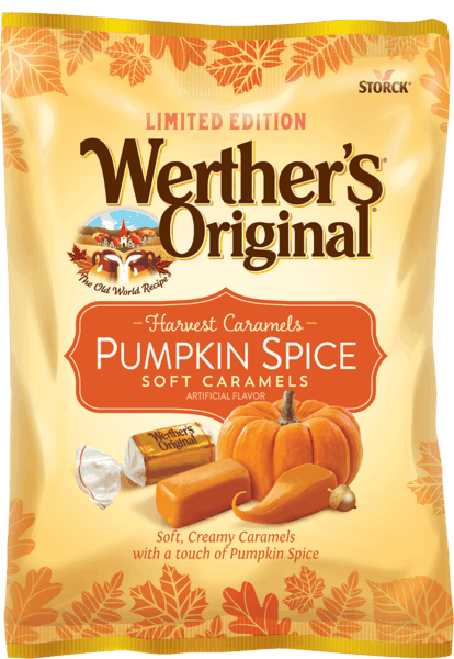 $0.25 for Werther's® Original® Pumpkin Spice Soft Caramels (expiring on Wednesday, 11/01/2017). Offer available at Dollar General.