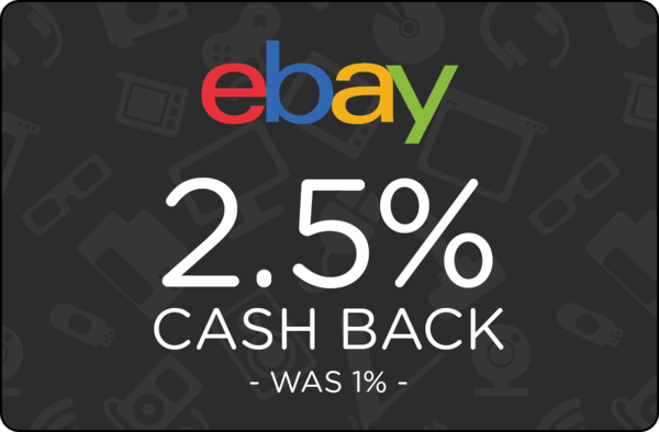 $0.00 for Ebay (expiring on Tuesday, 10/31/2017). Offer available at eBay.