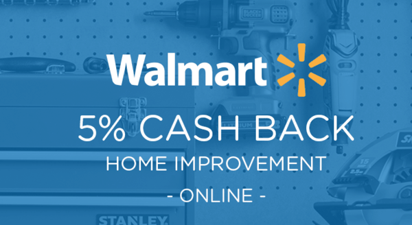 $0.00 for Walmart.com Home Improvement (expiring on Wednesday, 05/01/2019). Offer available at Walmart.com.