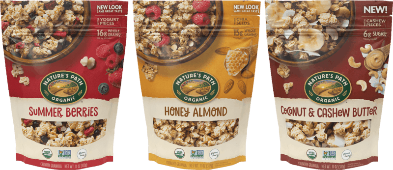 $1.00 for Nature's Path Gluten Free Granola (expiring on Sunday, 09/19/2021). Offer available at multiple stores.