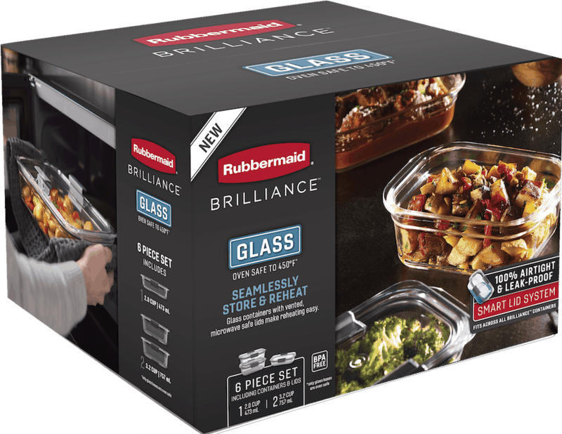 $5.00 for Rubbermaid Brilliance Containers (expiring on Monday, 05/31/2021). Offer available at Target, Meijer.
