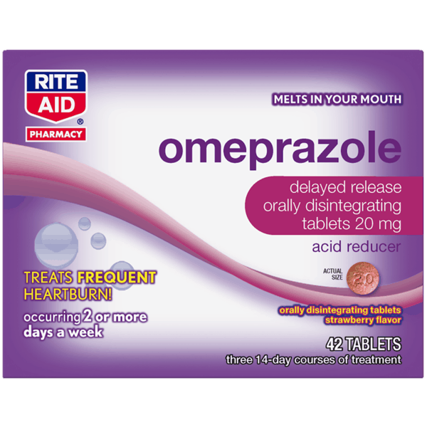 $5.00 for Rite Aid® Omeprazole Acid Reducer Orally Disintegrating Tablets (expiring on Thursday, 11/01/2018). Offer available at Rite Aid.