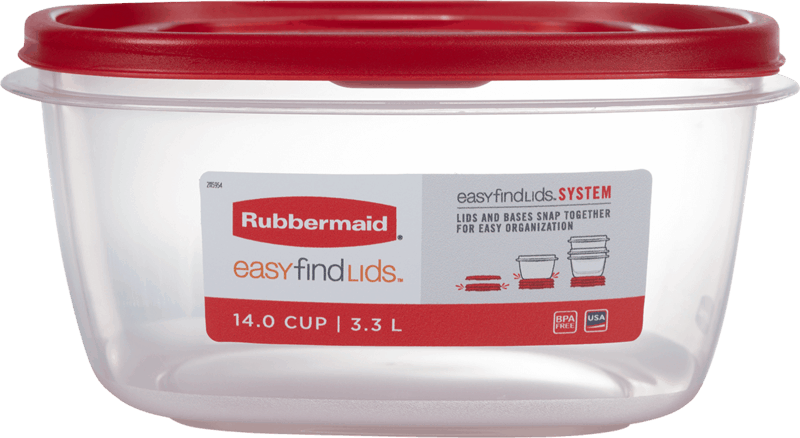 $0.75 for Rubbermaid Easy Find Lids Singles (expiring on Friday, 08/06/2021). Offer available at multiple stores.