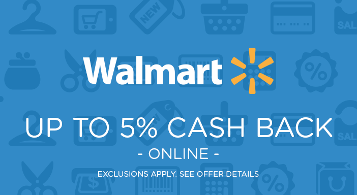 $0.00 for Walmart.com - Cash Back Varies by Category (expiring on Wednesday, 01/01/2020). Offer available at Walmart.com.