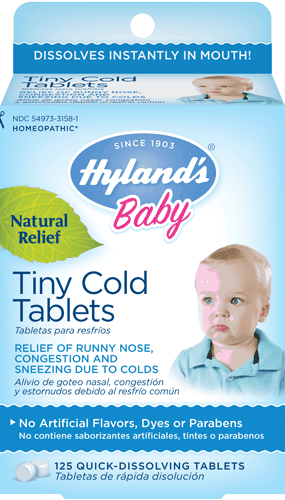 $1.00 for Hyland's® Baby Tiny Cold Tablets. Offer available at multiple stores.