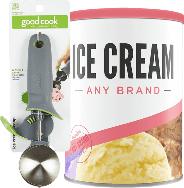 $2.00 for GoodCook® Pro Ice Cream Scoop & Any Brand Ice Cream (expiring on Friday, 03/02/2018). Offer available at Kroger.