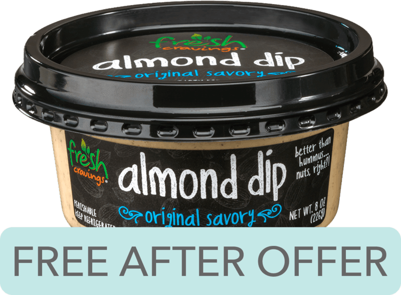 $3.98 for Fresh Cravings® Almond Dip. Offer available at Walmart.