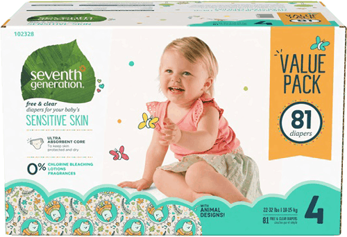 $5.00 for Seventh Generation™ 3 Pack Diapers (expiring on Tuesday, 07/18/2017). Offer available at Target.