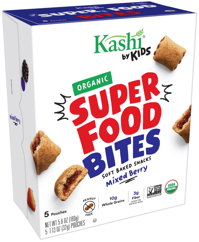 $1.00 for Kashi® by Kids Snack Bites (expiring on Saturday, 03/21/2020). Offer available at multiple stores.