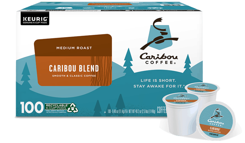 $4.00 for Caribou Coffee Caribou Blend K-Cup Pods (expiring on Sunday, 11/29/2020). Offer available at multiple stores.