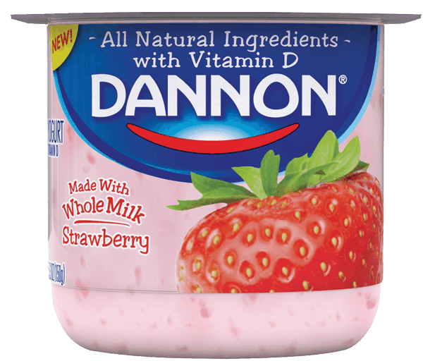 $0.50 for Dannon® Whole Milk Yogurt (expiring on Wednesday, 03/01/2017). Offer available at Walmart.