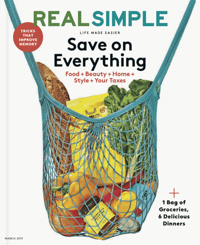 $1.00 for Real Simple Magazine (expiring on Wednesday, 10/02/2019). Offer available at Walmart.