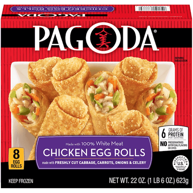 $1.00 for Pagoda® Egg Rolls (expiring on Saturday, 12/21/2019). Offer available at multiple stores.