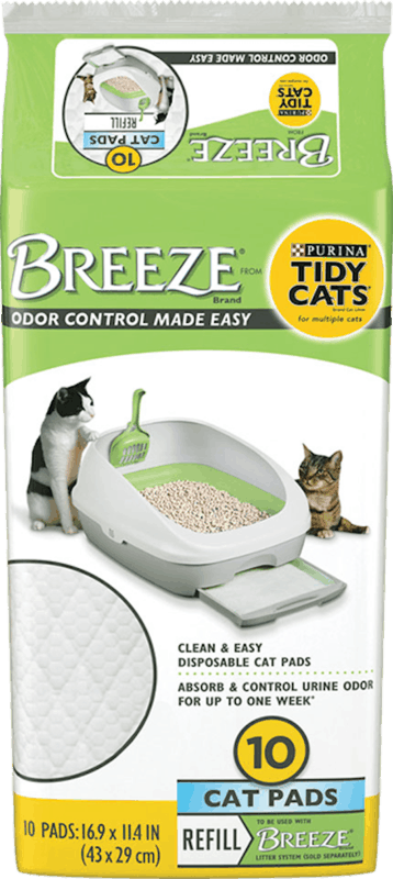 $3.00 for Purina Tidy Cats Breeze Cat Pad Refill Pack (expiring on Monday, 08/31/2020). Offer available at Meijer, H-E-B, PetSmart.