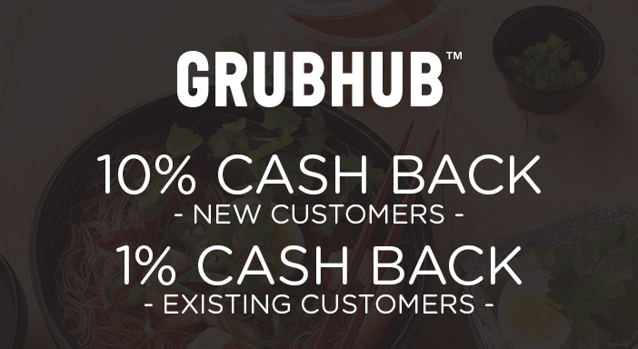 $0.00 for Grubhub (expiring on Tuesday, 12/31/2019). Offer available at Grubhub.