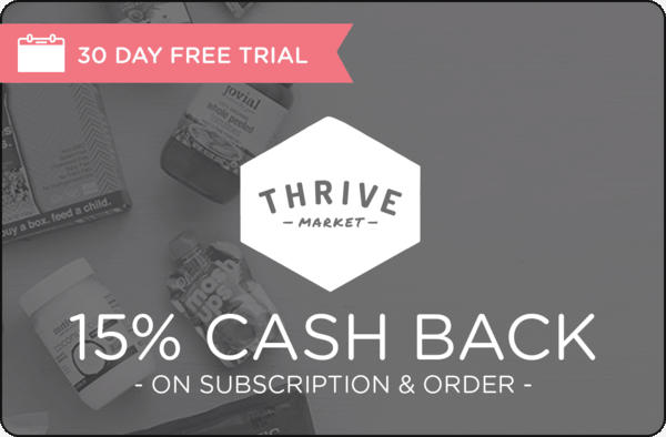 $0.00 for Thrive Market (expiring on Saturday, 05/04/2019). Offer available at Thrive Market.