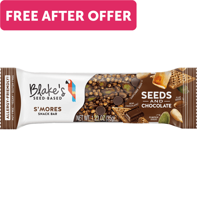 $1.99 for Blake's Seed Based Snack Bar (expiring on Tuesday, 11/16/2021). Offer available at multiple stores.