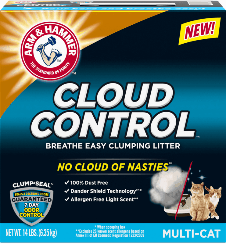 $2.00 for ARM & HAMMER™ Cloud Control™ Clumping Cat Litter. Offer available at Walmart.
