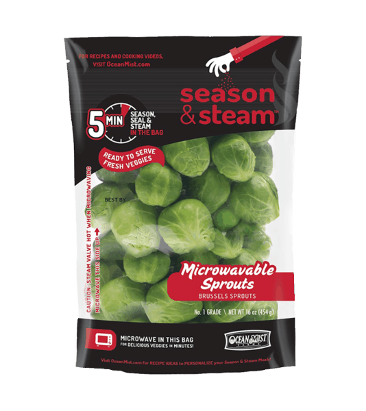 $0.50 for Ocean Mist Farms Bagged Season & Steam Brussels Sprouts (expiring on Thursday, 01/03/2019). Offer available at multiple stores.