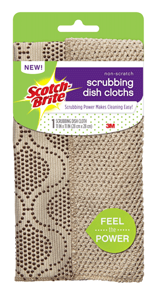 $0.50 for Scotch-Brite® Scrubbing Dish Cloth (expiring on Wednesday, 02/07/2018). Offer available at Meijer.
