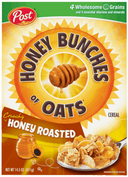$0.50 for Honey Bunches of Oats® Cereal (expiring on Monday, 04/02/2018). Offer available at WinCo Foods.