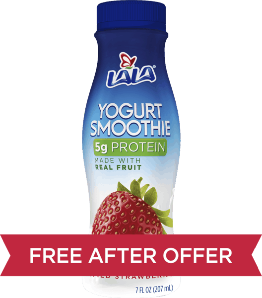 $0.88 for LALA® Yogurt Smoothies (expiring on Thursday, 08/02/2018). Offer available at Walmart.