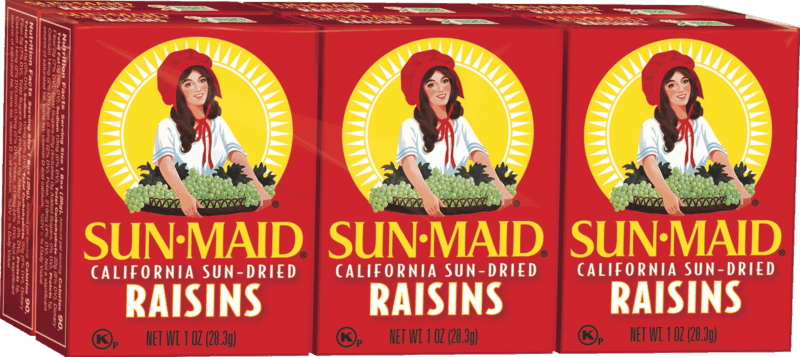 $0.50 for Sun-Maid Raisins (expiring on Sunday, 08/02/2020). Offer available at multiple stores.