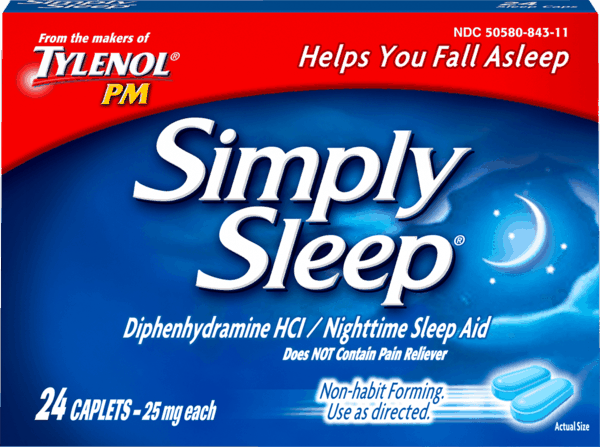 $1.00 for Simply Sleep® Nighttime Sleep Aid Caplets. Offer available at Walmart.