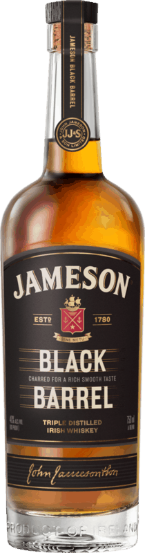 $2.00 for Jameson Black Barrel Whiskey. Offer available at multiple stores.