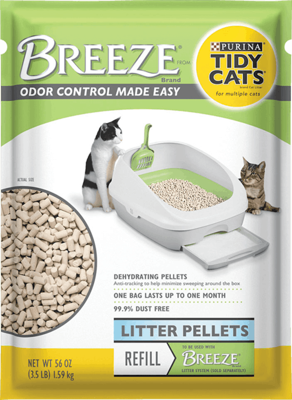 $2.00 for Purina Tidy Cats Breeze Cat Litter Pellets Refill Pack (expiring on Monday, 08/31/2020). Offer available at Meijer, H-E-B, PetSmart.