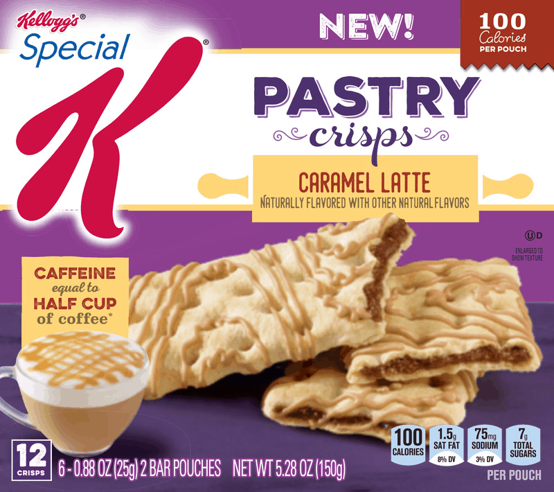 $1.00 for Kellogg's Special K Caramel Latte Pastry Crisps. Offer available at multiple stores.