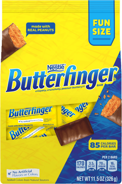 $1.00 for Butterfinger® Fun Size (expiring on Sunday, 12/02/2018). Offer available at Walmart.
