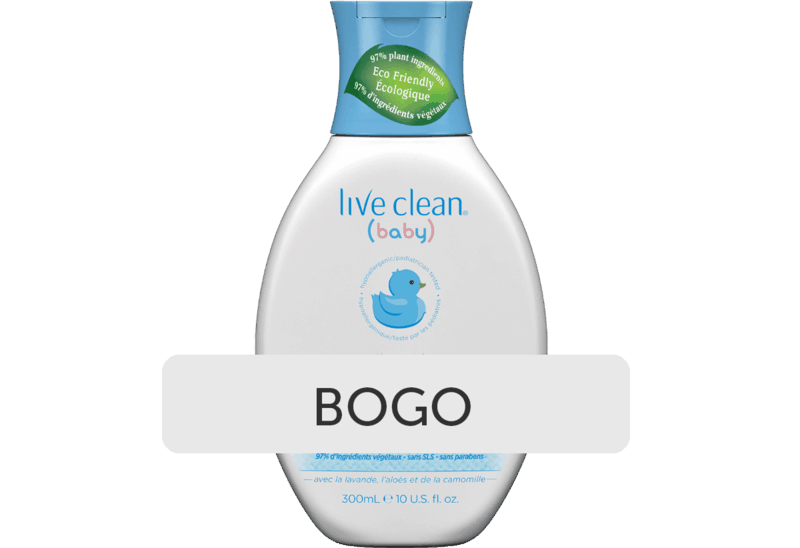 $5.98 for Live Clean Baby Lotion, Shampoo & Wash. Offer available at Walmart, Walmart Pickup & Delivery.