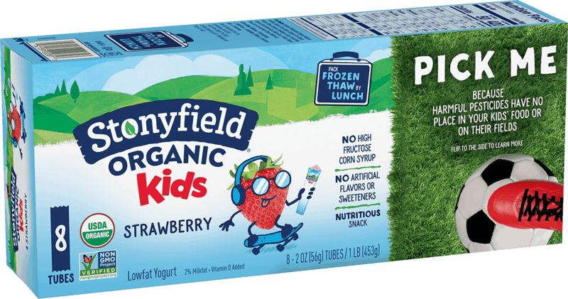 $0.25 for Stonyfield Organic Kids Yogurt Multipack (expiring on Monday, 01/31/2022). Offer available at multiple stores.